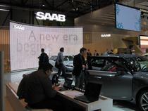 Standul Saab la salonul auto Geneva 2010