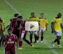 Fotbalisti brazilieni, atacati de fortele de ordine