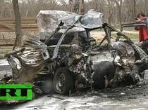 Imagini de la exploziile din Daghestan