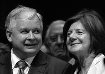 Lech Kaczynski alaturi de sotia sa, Maria