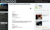 Apple cere sa-i fie inapoiat prototitpul iPhone