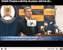 """Catalin Predoiu prezinta """"mica reforma a justitiei"""""""