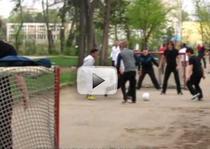 Plushenko a jucat fotbal la Bucuresti