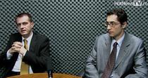 Daniel Petre si Lucian Tanase (Deloitte) in studioul HotNewsTV
