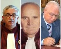 Cei trei judecatori de la Curtea Constitutional: Augustin Zegrean, Nicolae Cochinescu, Petre Lazaroiu