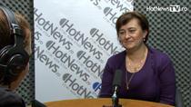 Raluca Ioana van Staden in studioul HotNews.ro