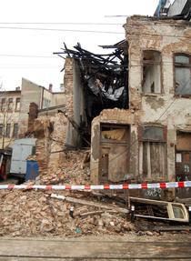 FOTOGALERIE Zidul prabusit de pe Calea Mosilor (Ovidiu Draghia/HotNews.ro)