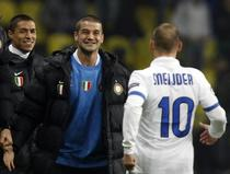 Chivu, bucuros dupa golul lui Sneijder