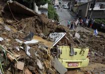 Inundatii si alunecari de teren in Rio de Janeiro