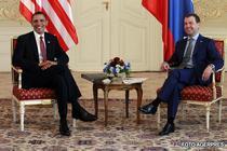 Obama si Medvedev, in Cehia