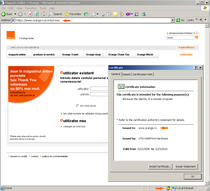 Cum poate fi recunoscut un website securizat Orange