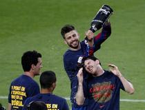 """Sampanie pe """"Camp Nou"""": Messi si colegii si-au pastrat titlul"""