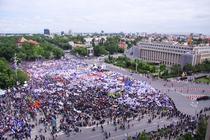 Piata Victoriei, ocupata de protestatari