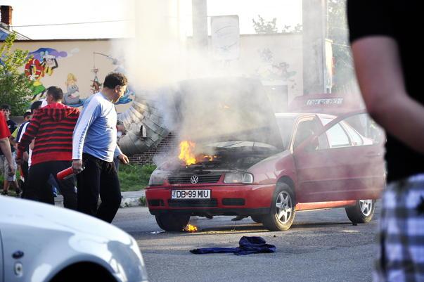 incendiu auto