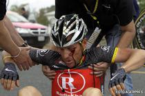 Armstrong, accidentat in Turul Californiei