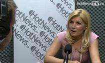 Elena Udrea in studioul HotNews.ro