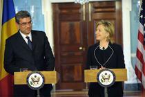 Teodor Baconschi si Hillary Clinton