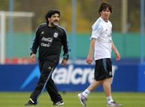 Maradona isi pune mari sperante in Messi
