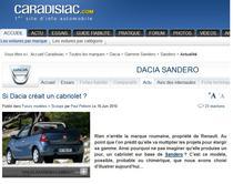 Francezii isi imagineaza cum ar fi o Dacia cabrio
