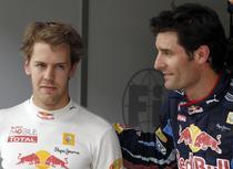 Sebastian Vettel si Mark Webber