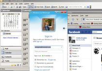 facebook - outlook - windows live