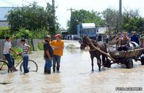 Inundatiile care afecteza Romania, in imagini