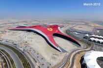 Asa arata de sus parcul tematic Ferrari