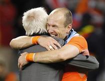 Arjen Robben, fericit dupa meciul cu Uruguay