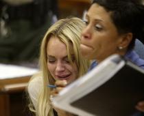 Lindsay Lohan, in lacrimi