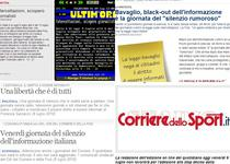 Institutiile media italiene anunta greva pe paginile online