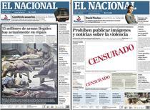 Prima pagina din ziarul El Nacional