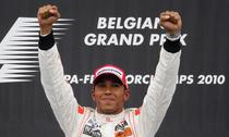 Hamilton, victorie in Belgia