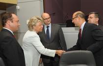 Comisarul Viviane Reding s-a intalnit cu delegatia romana
