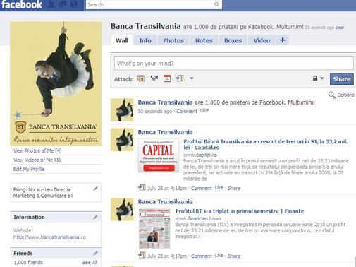 Contul Facebook al BT
