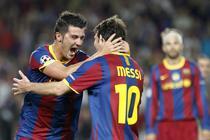 Villa si Messi, bucuria unei victorii clare (5-1 vs Panathinaikos)
