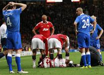 Antonio Valencia (Manchester United), accidentat grav in meciul cu Rangers