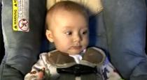 Copil in car seat