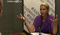 Raluca Turcan in studioul HotNews.ro