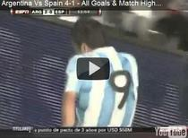 Argentina, victorie mare cu Spania