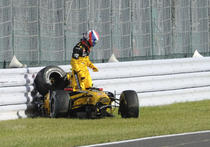 Petrov, accident la Suzuka