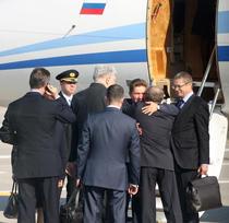 Alexei Miller, presedintele Gazprom, la plecarea din Romania