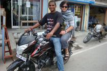India pe motocicleta