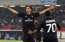 Ibra si Robinho aduc victoria Milanului