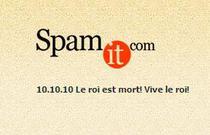 Mesajul afisat de SpamIt