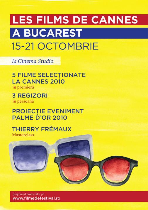 afis Festivalul de la Cannes, la Bucuresti