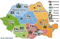 Distributia drogurilor in Romania, pe regiuni