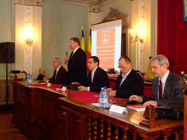 Conferita PSD cu liderii de partid si parlamentarii din Transilvania si Banat
