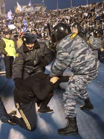 Incaierari intre politisti si fanii lui Zenit