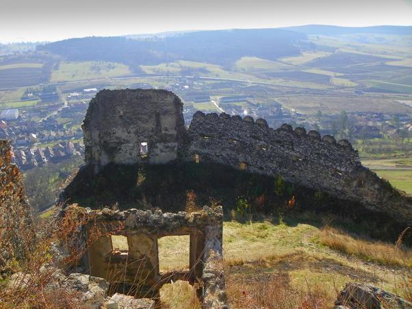 Cetatea Rupea... a intrat in renovare....