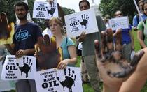 Protest cauzat de deversarile BP
